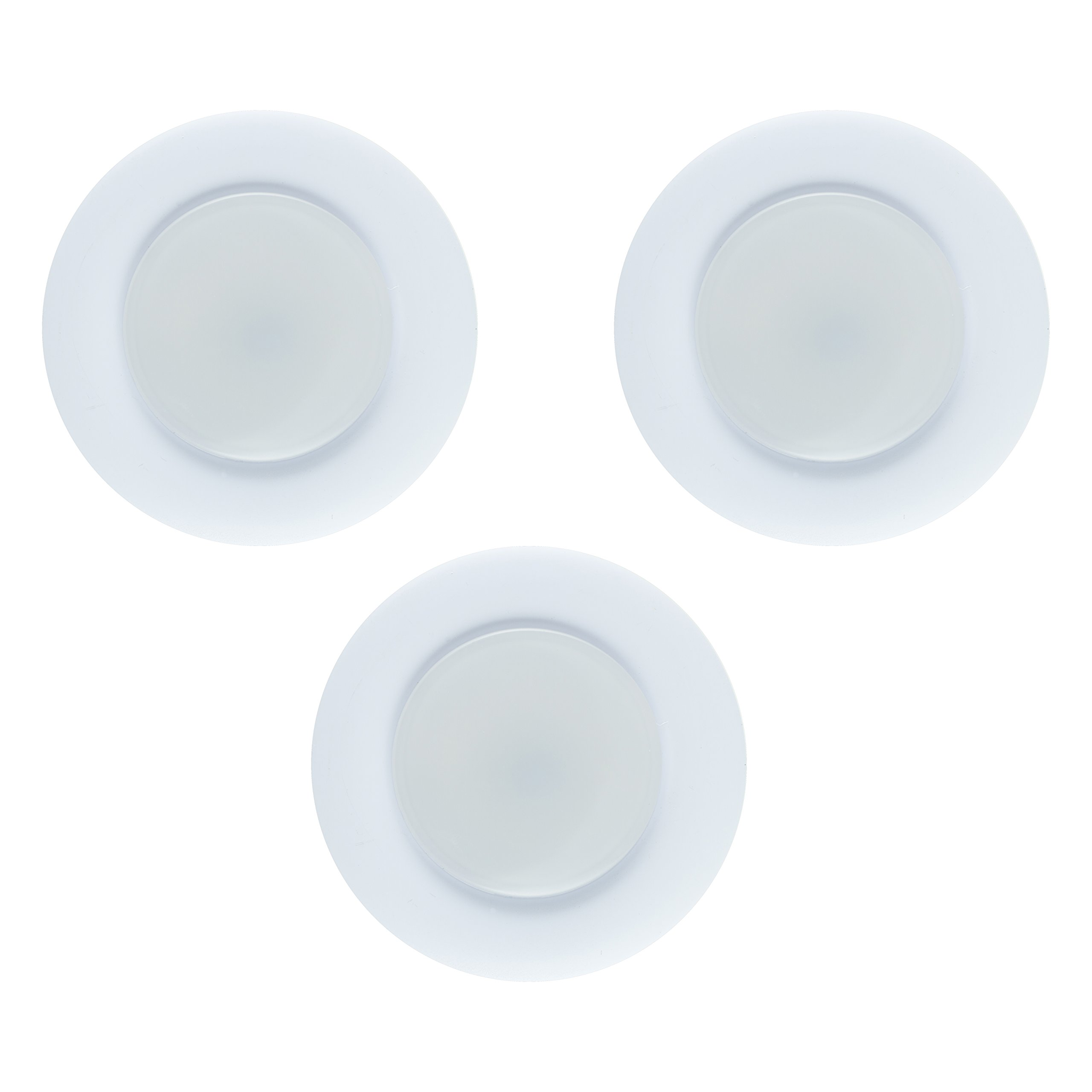 Ge 31393 Enbrighten Plug In Linkable Led Puck Lights W: GE Enbrighten LED Puck Lights, 3 Pack, Plug-In, Linkable