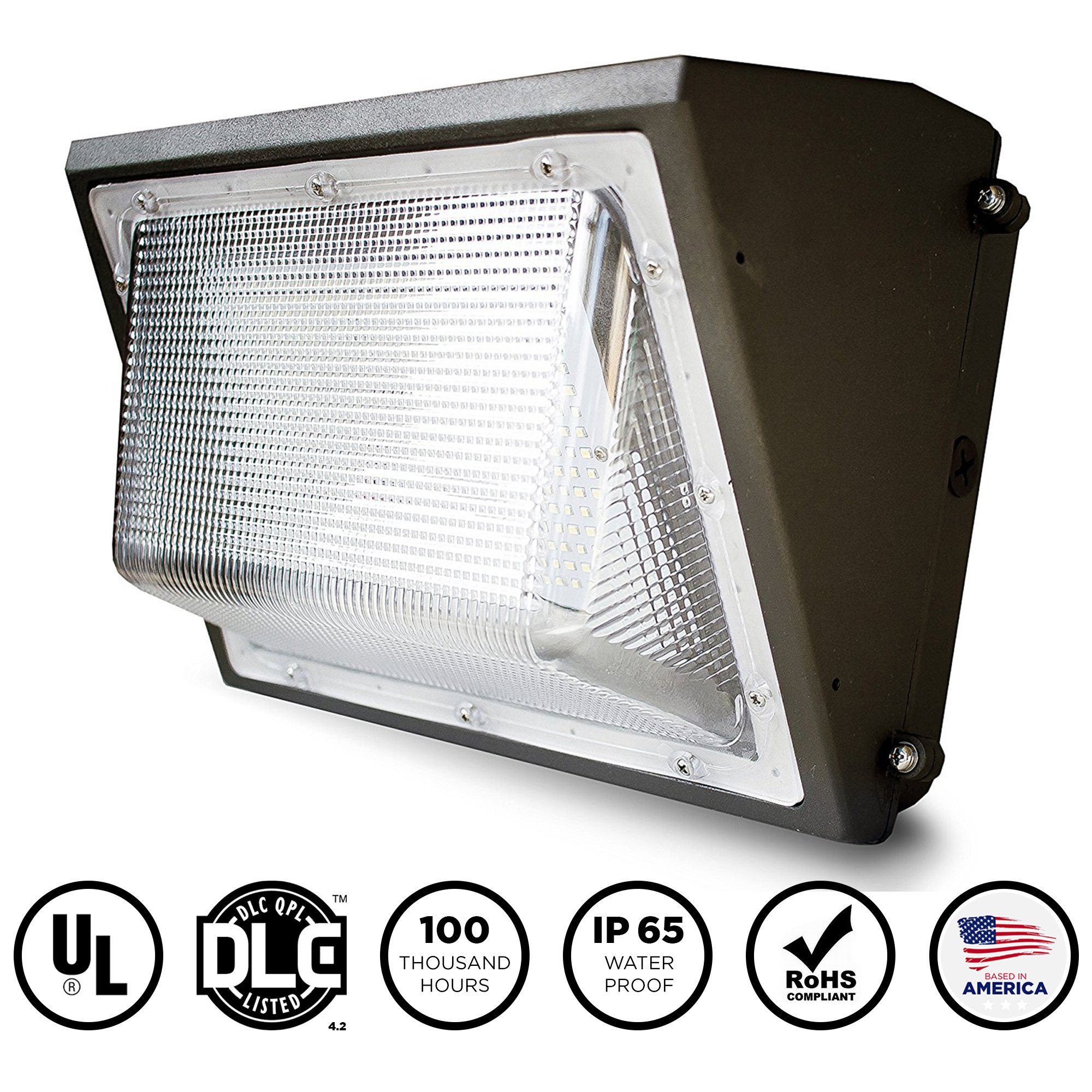 Hyperselect Led 100w Wall Pack Light: Everwatt Led 100w Wall Pack Outdoor Area Light Fixture