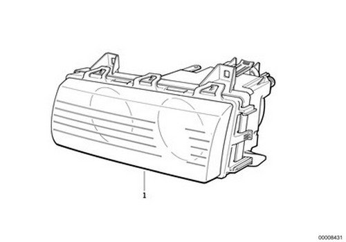 Bmw Oem Headlight Assembly Halogen With Reflector Left