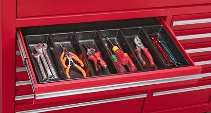 ideal cabinets 6 compartment drawer organizer for tools nails screws 17470