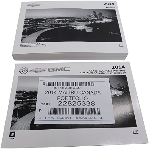 2014 Chevy Malibu Canadian Owners Manual & Booklet