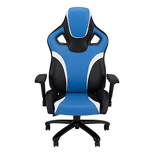 galaxy xl big and tall large size gaming chair by skylab performance seating blue black white. Black Bedroom Furniture Sets. Home Design Ideas