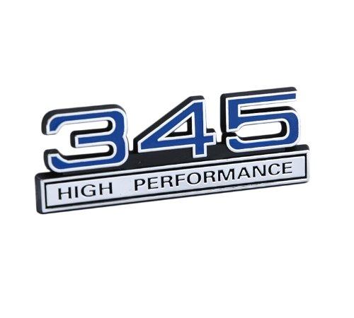 Supercharged Electric Az: 345 V8 High Performance Emblem With Blue & Chrome Trim