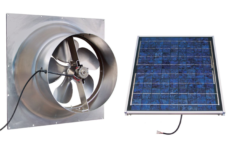 Gable Mounted Solar Attic Fan 24 Watts 2100 Sq Ft