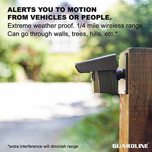 1 4 Mile Long Range Wireless Driveway Alarm W Two Sensors
