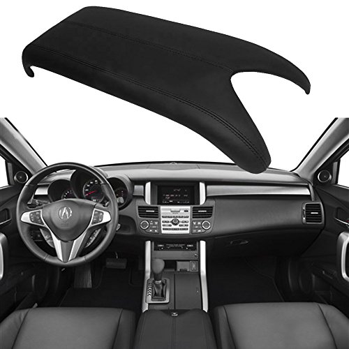 Qkparts Center Console Lid Armrest Cover Real Leather For