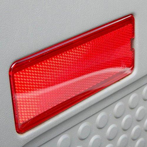 Premium Door Reflector Interior Red Fits Ford Superduty