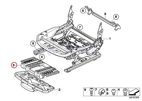 bmw genuine connection element for thigh support