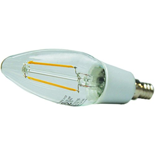 Ecosmart 40w Equivalent Soft White B11 Dimmable Filament: EcoSmart 25W Equivalent Soft White B11 E12 Vintage Style