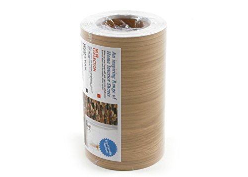 Peel & Stick Border Sticker Chestnut Wood Pattern Contact