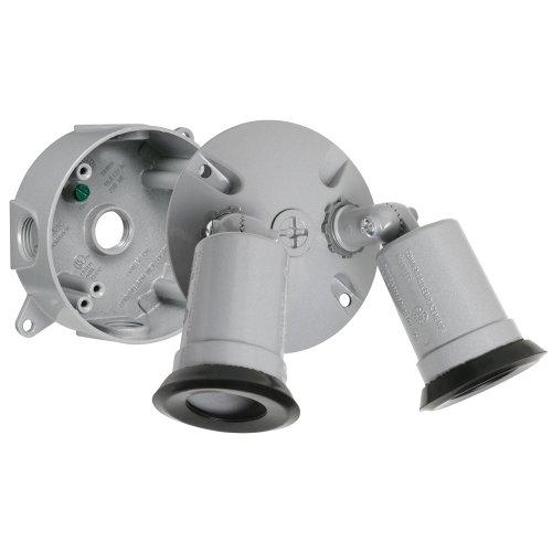 Taymac LT233S Traditional Outdoor Flood Light Kit, Gray