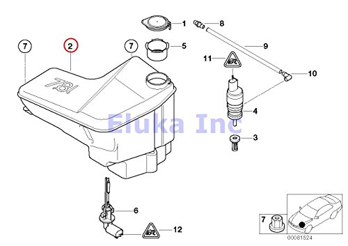 bmw oem fuel filter with pressure regulator for x5 3 0i 4i