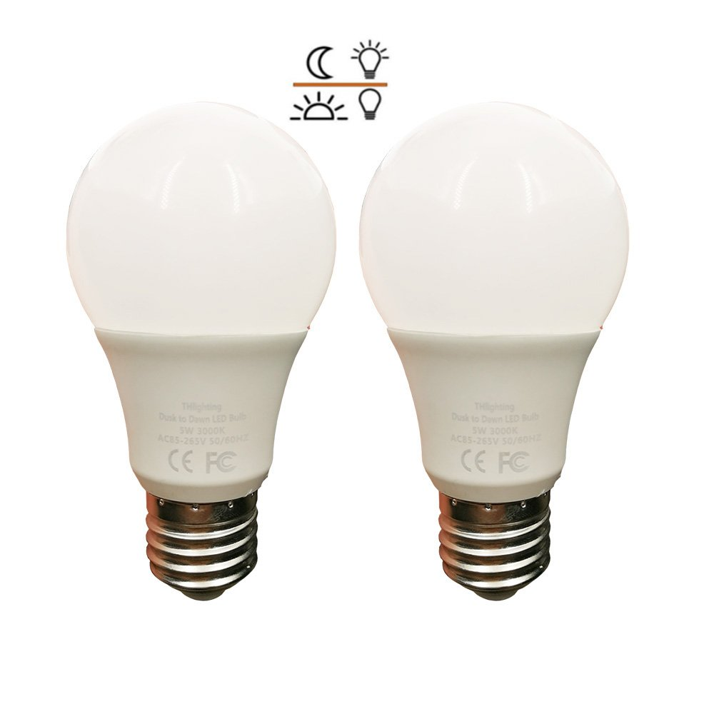 Dusk To Dawn Light Bulb Not Working: 2 Pack Dusk To Dawn 5W LED Light Bulb 40 Watt Equivalent