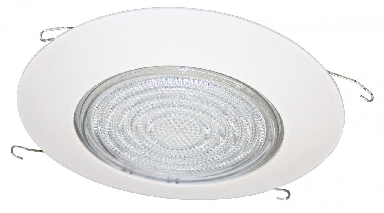 "Fresnel Glass Restoration Bath Light: Fresnel Shower Plastic Trim For 6"" Recessed Can"