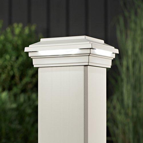 Led Post Cap Light Square Style Classic White Wtsqledcap4x4c