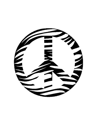 Zebra Peace Sign Coloring Pages Zebra Peace Sig...