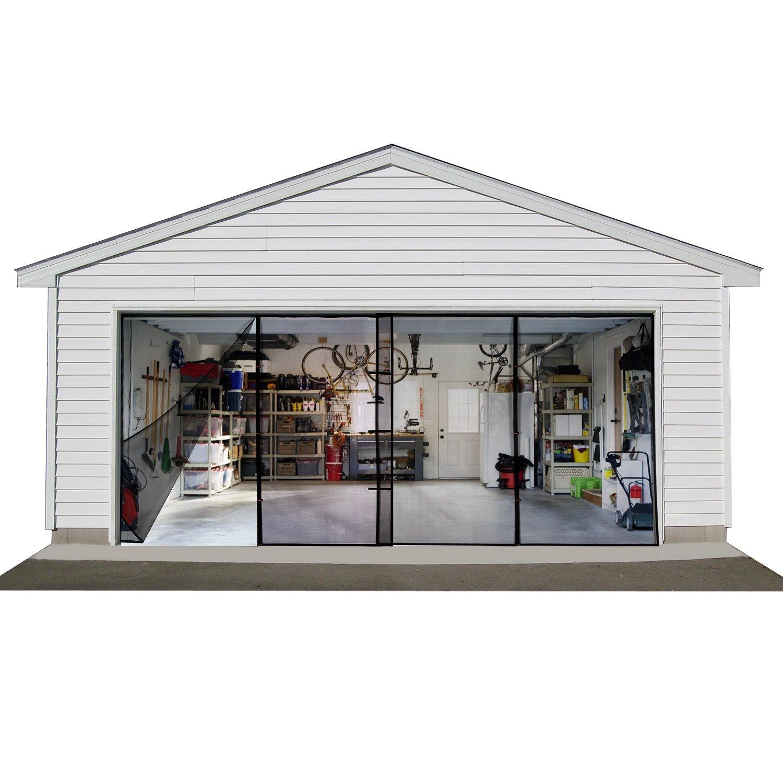Double Garage Door Screen Car Door Net Mesh With Magnet