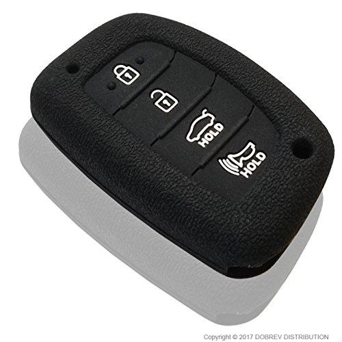 DOBREV 4 Buttons Silicone Case Protector Key Fob Cover