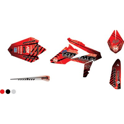 attack graphics custom havoc full trim kit red black. Black Bedroom Furniture Sets. Home Design Ideas