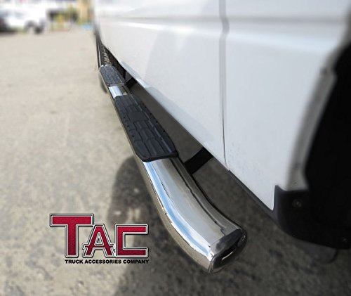 """TAC 4.25"""" PNC Oval Bend Side Steps For 2015-2018 Chevy"""