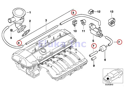 bmw genuine turbo charger vacuum hose