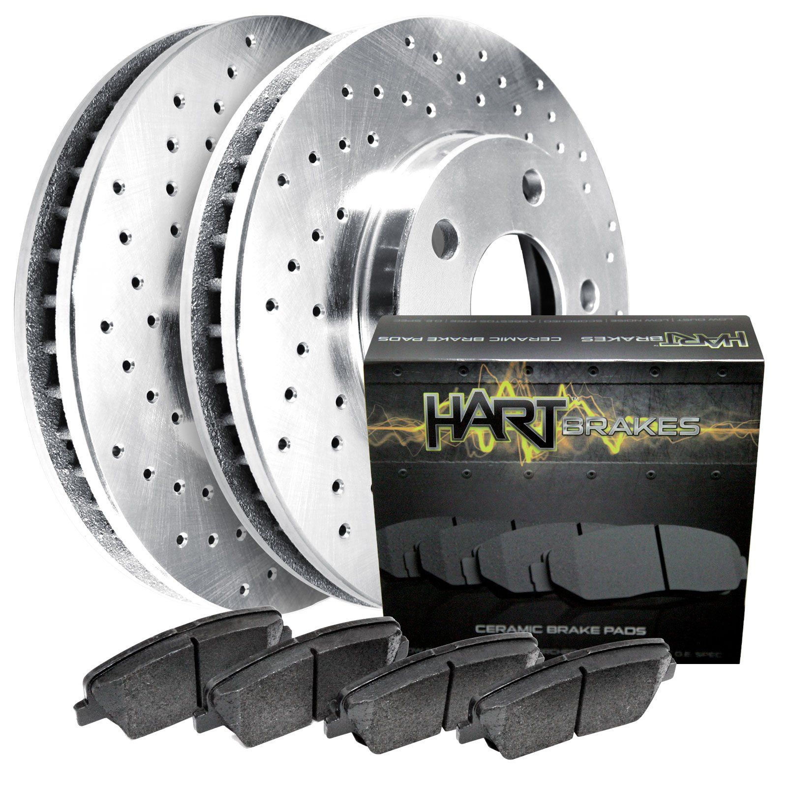 1998 Volvo S90 Exterior: 1997-1998 S90,V90 Front Platinum Hart Drilled Brake Rotors