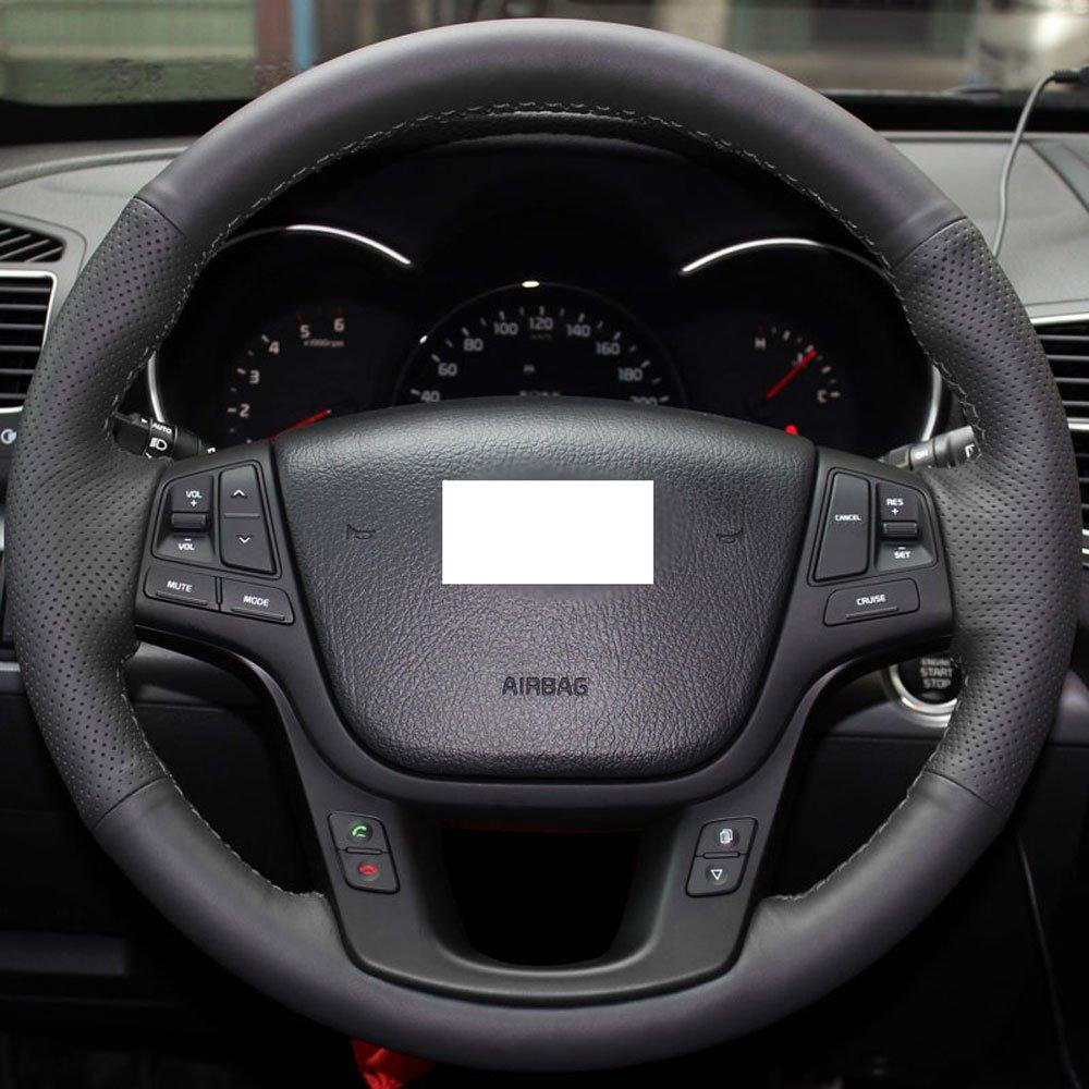 2014 Kia Cadenza Interior: Eiseng DIY Car Steering Wheel Cover For 2014 2015 Kia