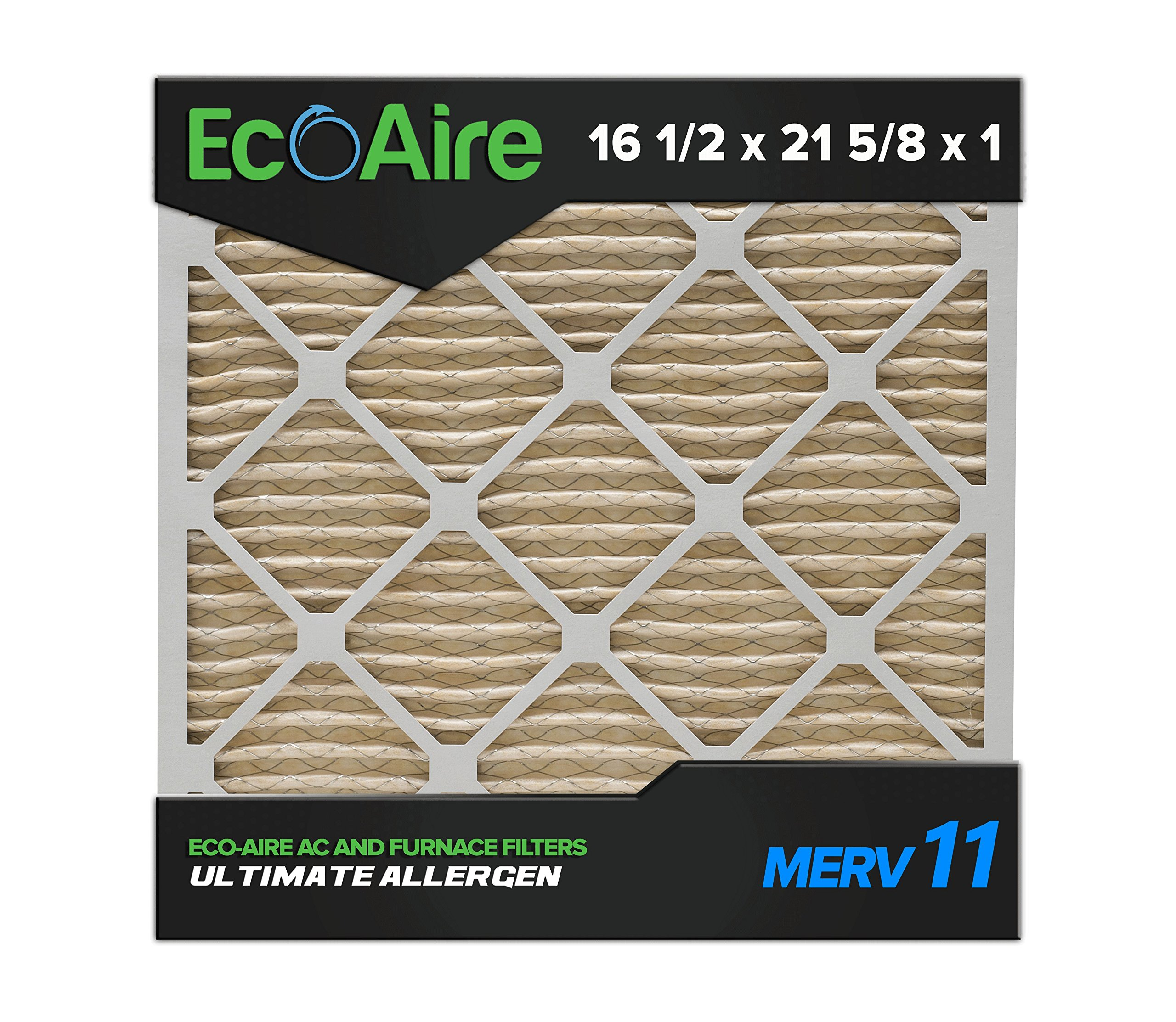 Eco Aire 16 3 8x 2x1 Merv Pleated Air Filter 8 X 21 1 2 1
